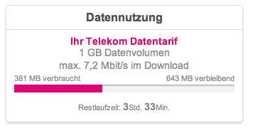 Noch über 600 MB